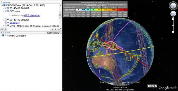 M7.6 Earthquake - 100km SSE of Kirakira, Solomon Islands 2014-04-12 20:14:39 UTC